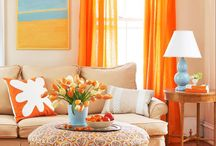 Home Paint Color / We dare you to go bold! Ideas for adding color to your home interior and exterior decor.