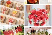 Coral & Yellow Wedding