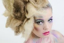 Colorful make up / Colorful make-up and hair. Fotograaf ton blom