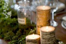 drewniane swieczniki