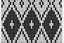 Hækle/crochet. Mønstre/Patterns