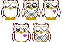 Owl appliqué