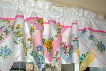 Curtains made from habdkerchiefs