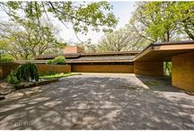 Frank Lloyd Wright Homes / Lighting and interplay with daylighting in Frank Lloyd Wright and other prairie style homes.