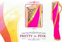 #traditional pink #ombre #chiffon #saree!