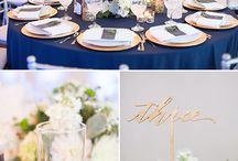 Свадьба в сине золотом