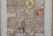 Inchies paper and fabric