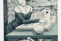 Exlibris / Bookplates - Alphonse Inoue
