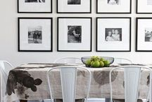 Decorating with black and white photos inspiration