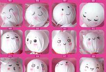 Kumaş bebek yüz ifadeleri