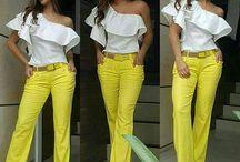 moda verano blusa pantalón