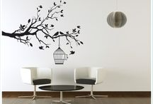 wall tattoos / instead of stencils or paint, why not stick your design on your wall which would add character to any room in the home.