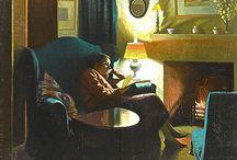 Reading, in art