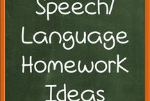 Speech Language Homework Ideas / Ideas for Speech/Language Homework