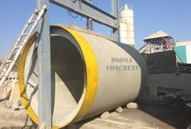 vertical pipes with hydro static pressure test / We make and supply high quality precast cement products, rcc pipes, spun pipes, cement pipes, drainage pipes as per the ISI standard.