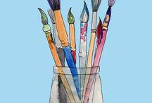 Pigment Liner Pen &Watercolours