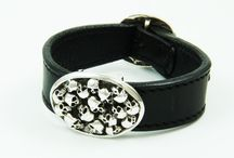 Leather Wrist Strap 925 Sterling Skull