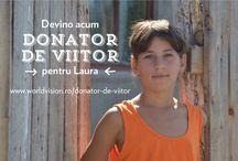 """Donator viitor / Am lansat un program de suflet, """"Donator de viitor"""" prin care ne dorim sa cautam persoane bune la suflet, dornice sa sustina un copil din satele sarace ale judetului Dolj schimband acest fel viitorul intregii comunitati.  Daca doriti sa deveniti """"donator de viitor"""" sunteti la cateva click-uri distanta. Intrati aici: http://www.worldvision.ro/donator-de-viitor-1, alegeti copilul pe care doriti sa-l sustineti si apasati butonul """"schimba viitorul lui""""."""