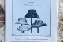 Hat and Bonnet Patterns / Sewing patterns for hats and bonnets from 1795 to 1920