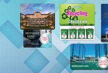 Scratch Off Cards / Printer of Scratch off cards, your source for printed scratch off promotions,low cost guarantee, custom scratch off and fundraiser, Print a plastic card in credit card or business card size or special die cut card with a scratch off that conceals a pin number or other important data.