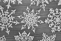 holidays January snowflakes