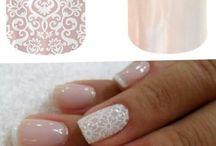 Lace wedding nails