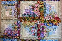 Log Cabin Quilt (Flowers)