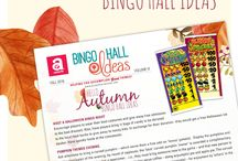 "Bingo Hall Ideas / The crisp, cool Autumn nights are here and it's time to freshen your Bingo Hall with Arrow's latest Bingo Hall ideas:   *HOSTING A HALLOWEEN BINGO NIGHT *HAVE A FALL ""GIVING BACK"" TO THE COMMUNITY EVENT *CARVED PUMPKIN THEMED EVENING  Visit arrowinternational.com for wonderful seasonal Popp-Opens® pull tabs, bingo ink markers and more Bingo Hall Ideas!"