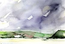 Simone Ridyard-Contemporary Watercolours / (UK) Simone is a Manchester based exhibiting artist and architect.