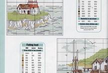 Cross Stitch - Ocean/New England/Lighthouses