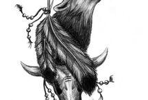 wolf howl tatoo