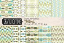 Tribal & Aztec Digital Patterns / Tribal and aztec digital paper patterns and backgrounds #tribal #aztec #digital