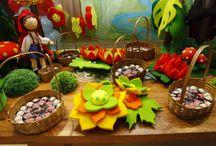Festa Chapeuzinho Vermelho / Aniversário infantil com decoração temática de Chapeuzinho Vermelho. Festa de 5 anos da pequena Catarina no Espaço Florescer Eventos, buffet infantil lúdico na Zona Leste de São Paulo.