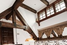 Bayhill / This home was photographed by Laurie Fryar Photography of Austin, Texas. The home features custom trusses and ceiling beams that are displayed all throughout the home.