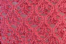 Πλέξεις με δύο βελόνες πλεξίματος - stitses with  two needles / Πλεκοντας με δύο  βελόνες
