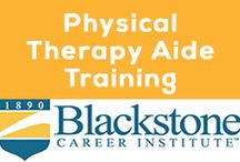 Physical Therapy Aide Training Program at Blackstone.edu / Are you interested in a rewarding career that improves the quality of life for others? Because medical advancements have enabled people of all ages to stay active and live longer, the demand for physical therapy aides is on the rise. The employment outlook for the physical therapy aide career is much better than the average for all occupations; the projected job growth in this field is expected to be up to 41% by 2022.
