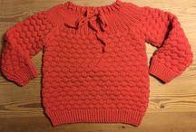 Babybluse med bobler / Kender du dette mønster vil jeg gerne have opskriften Do you know this pattern, I would like to have the recipe