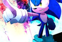 Sonic and  team