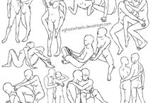 poses de casais desenho