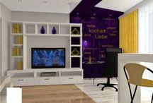 Multifunctional Living room design / Multifunctional Living room design