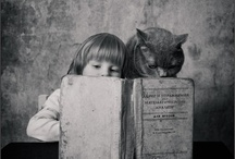 """Cat Intellectuals at The Great Cat www.thegreatcat.org / """"Cats are mysterious kind of folk.  There is more passing in their minds than we are aware of."""" Sir Walter Scott"""