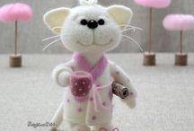 Вселенная доброты и улыбок валяных игрушек Elena Covert