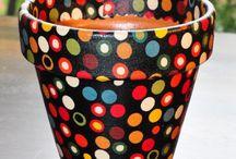 artesanato com vasos