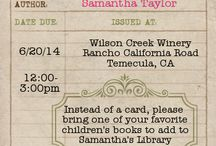 Build A Library Baby Shower / by Candles & Favors