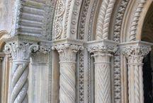 Concrete pilars and arches