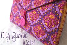 "Fabric Wallet Patterns and Tutorials / I'm always looking for the ""perfect"" wallet, one that will hold all my cards, checkbook, and cash. Since I can't seem to find one, maybe I can make one..."