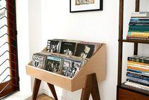 musikkbutikk innredning/møbler og materialbruk