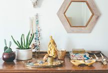 dresser and table styling / looks we like for photographing and display