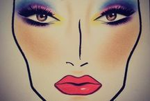 Face chart / Make up
