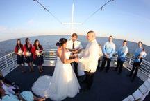 Destin Wedding Venues   Matthew and Chelsea on Solaris Yacht April Wedding